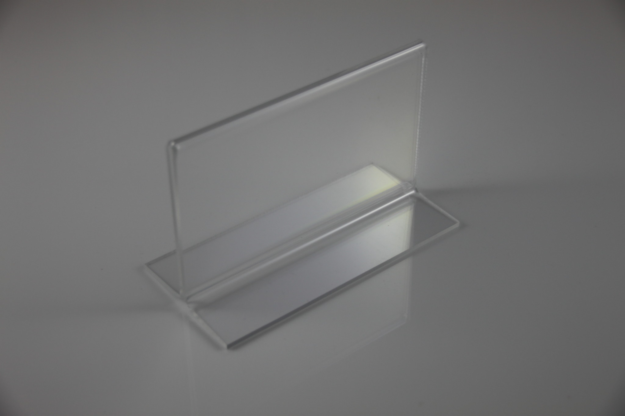 5x3 Horizontal Sign Holder Clear Acrylic T-Base Tabletop Counter ...