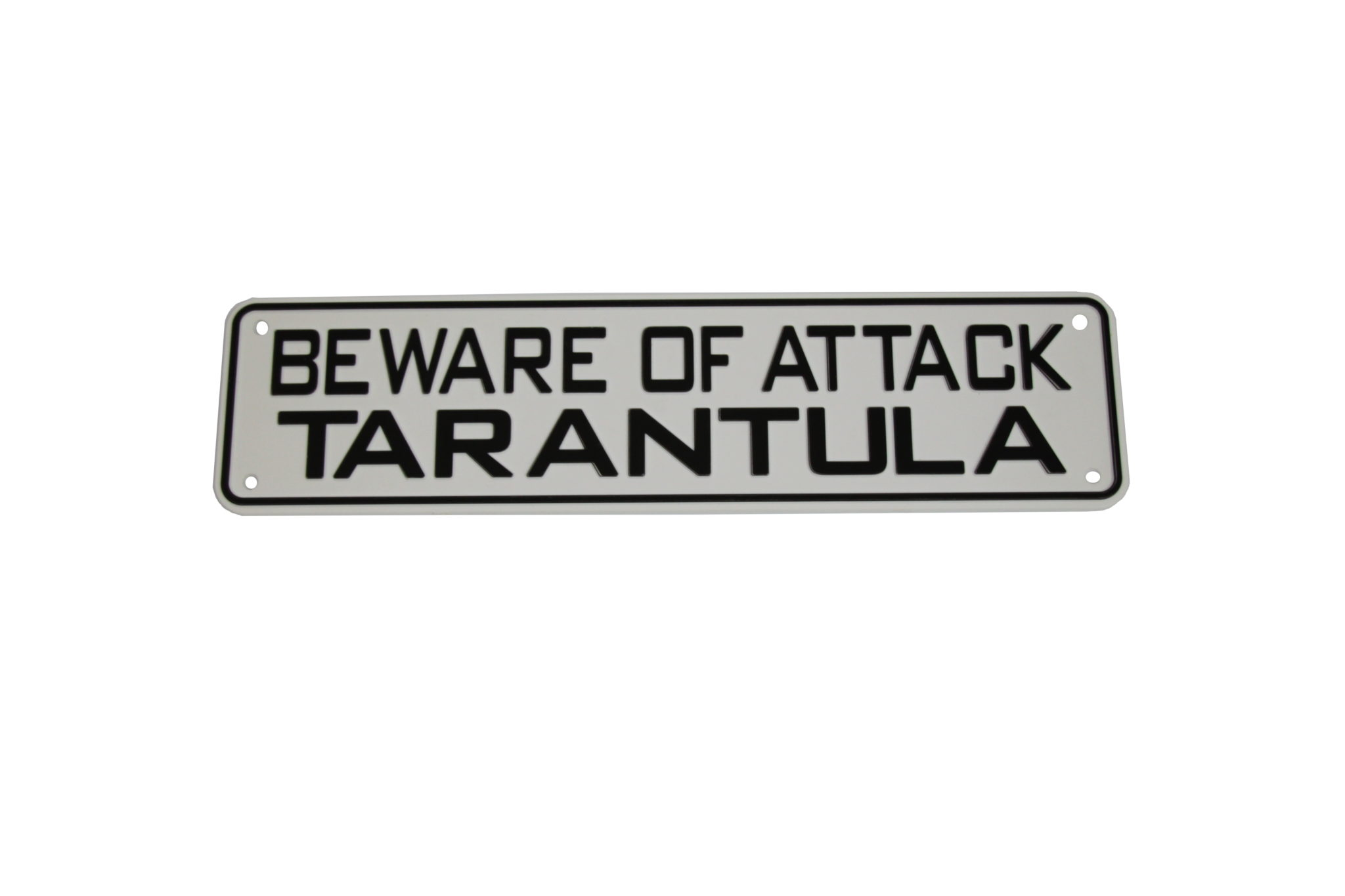 Details about Beware of Attack Tarantula Sign Bearded Dragon Crested Gecko  Reptile Lizard S